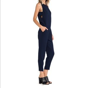 Trina Turk Navy Yasmine Cut-out Jumpsuit